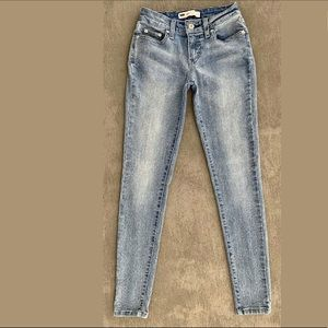 High-rise Levi's Stretch Blue Jeggings/Jeans